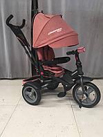 CROSSER T-400 NEO ECO AIR персиковий дитячий триколісний велосипед