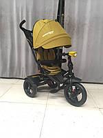 CROSSER T-400 NEO ECO AIR гірчичний дитячий триколісний велосипед