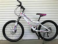 """Велосипед TopRider 900 24"""" підлітковий біло-малиновий, фото 1"""