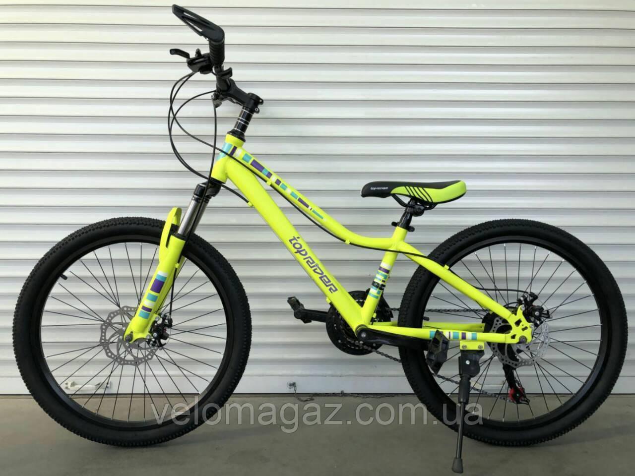"""Велосипед TopRider 900 24"""" подростковый салатовый"""