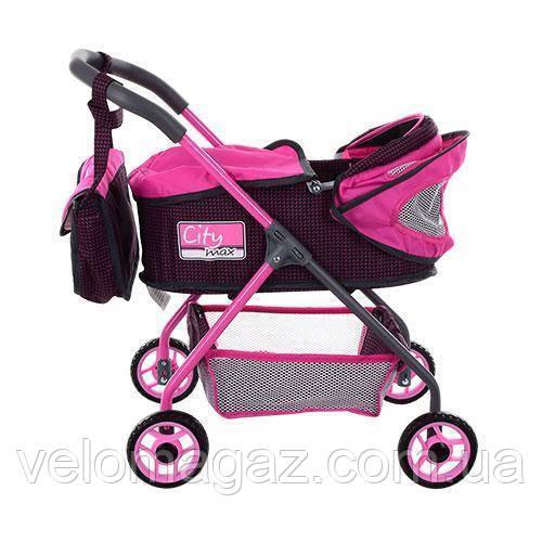 Коляска для ляльки City Max 86018 Pink