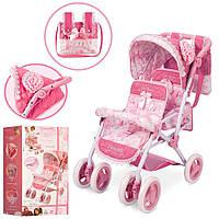Коляска для куклы Daniela Twins 90321 Pink