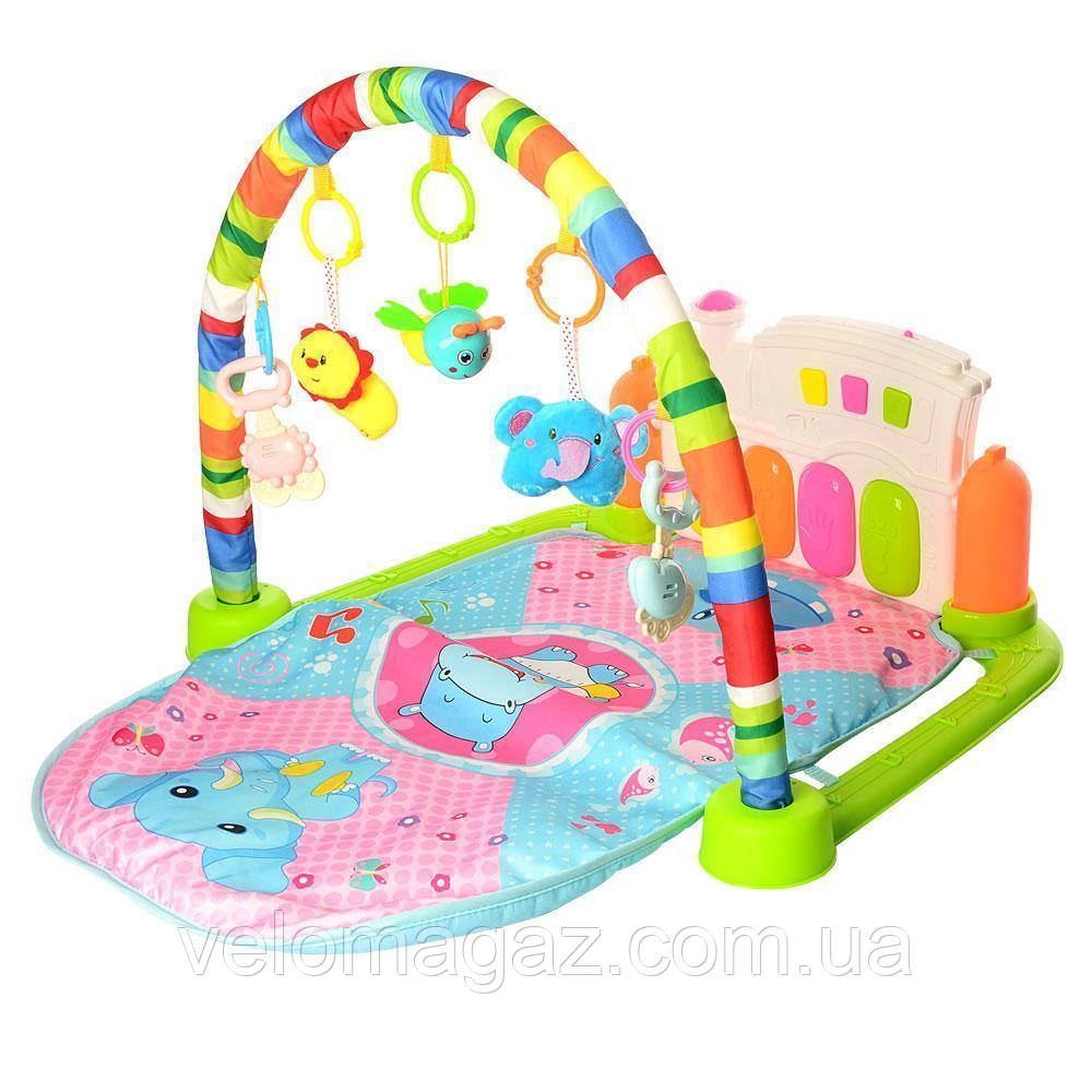 Развивающий коврик для младенца с пианино 030-032-2
