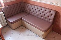 Мягкий уголок с местом для сна на кухню (Розово-бежевый), фото 1