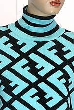 Теплий жіночий светр гольф Fendi, фото 2