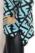 Теплий жіночий светр гольф Fendi, фото 3