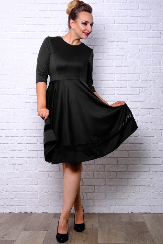 Черное платье большого размера Миу-Миу