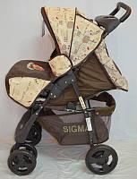 Детская коляска Sigma S-K-5AF (brown), фото 1