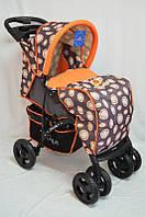 Дитяча прогулянкова коляска Sigma YK-8F помаранчева