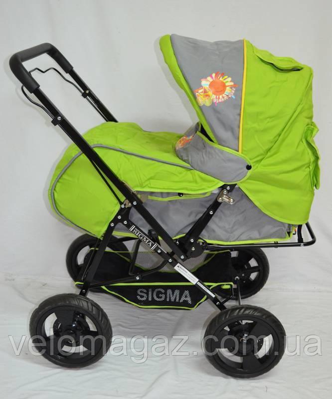 Детская зеленая прогулочная коляска Sigma H-T(WFS)-D