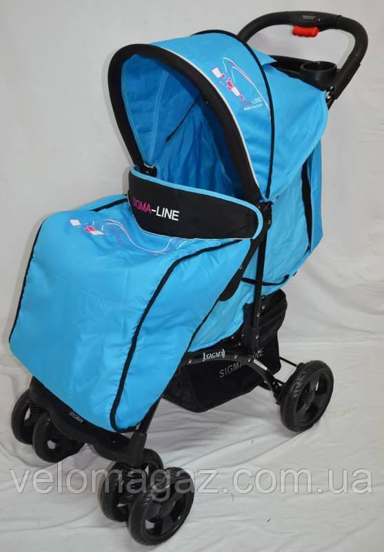 Детская прогулочная коляска Sigma YK-10F синяя