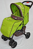 Дитяча прогулянкова коляска Sigma YK-10F зелена