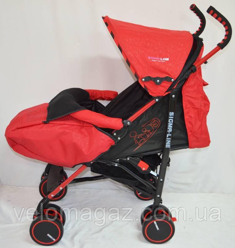 Детская прогулочная коляска Sigma BYW-312 красная