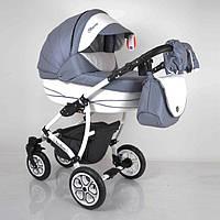 """Всесезонна дитяча коляска 2 в 1 """"AVALON BUENO"""" Grey-white"""