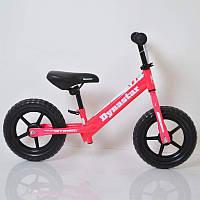 Детский стильный розовый беговел/велобег B-1 Pink