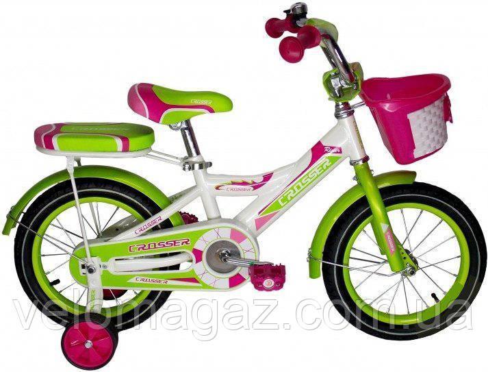 """RIDER CROSSER-6 14"""" дитячий двоколісний велосипед"""