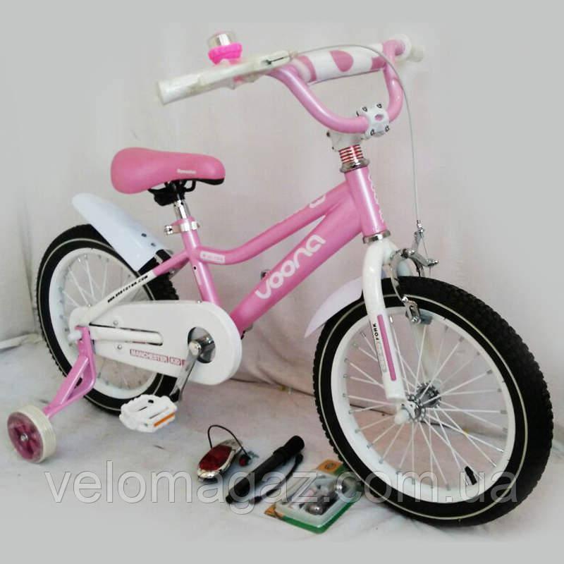 """Велосипед детский 16"""" N-100 Pink (sigma)"""