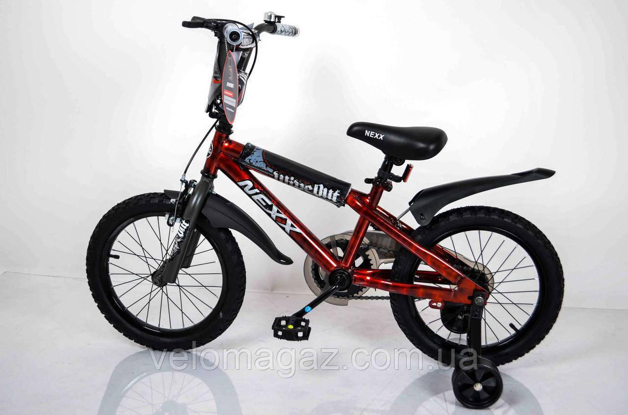 """Велосипед детский""""NEXX BOY-16"""" Красный-Сплэш"""