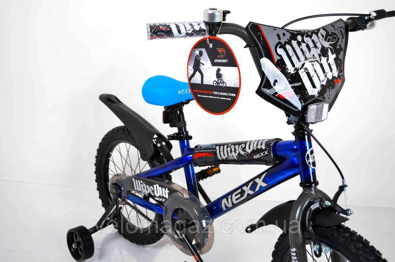 """Велосипед детский""""NEXX BOY-16""""Синий-Сплэш"""