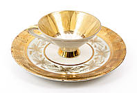 Антикварная чашка и тарелка, фарфор, Германия, Gebrüder Winterling A.G, фото 1