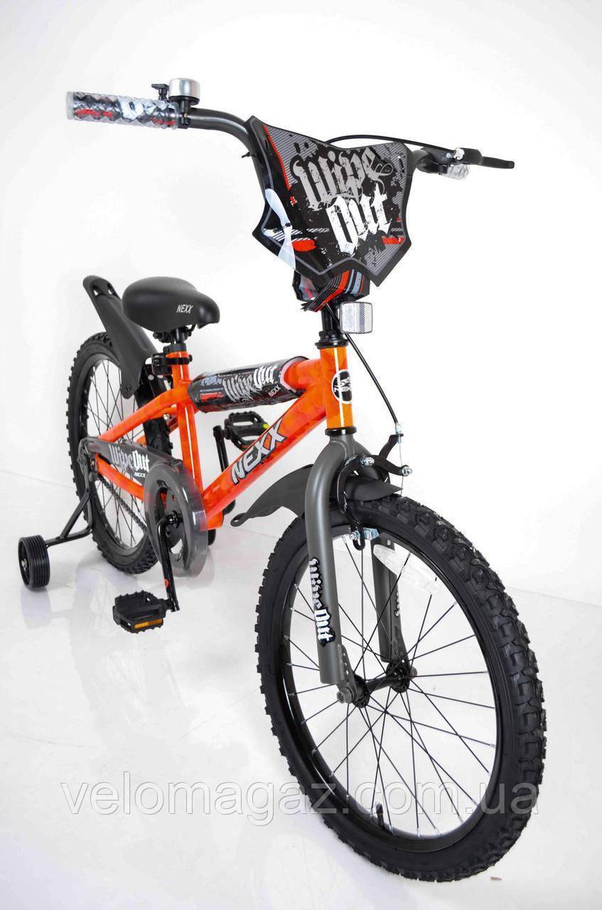 """Велосипед детский""""NEXX BOY-20""""Оранжевый-Сплэш"""