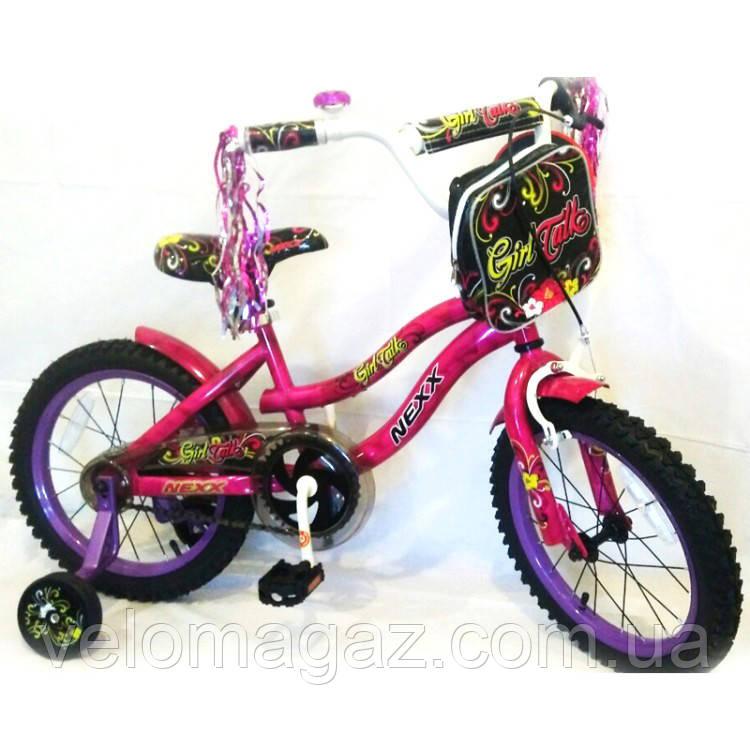 """Велосипед для девочки """"NEXX GIRL-16"""" розовый"""