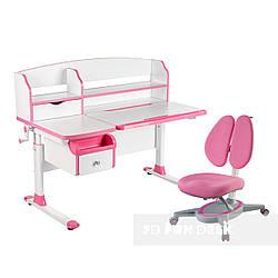 Комплект парта для подростка Sognare Pink + детское ортопедическое кресло Primavera II Pink FunDesk