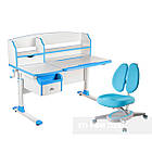 Комплект парта для подростка Sognare Blue + детское ортопедическое кресло Primavera II Blue FunDesk