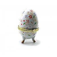 Шкатулка Яйцо керамика Цветы