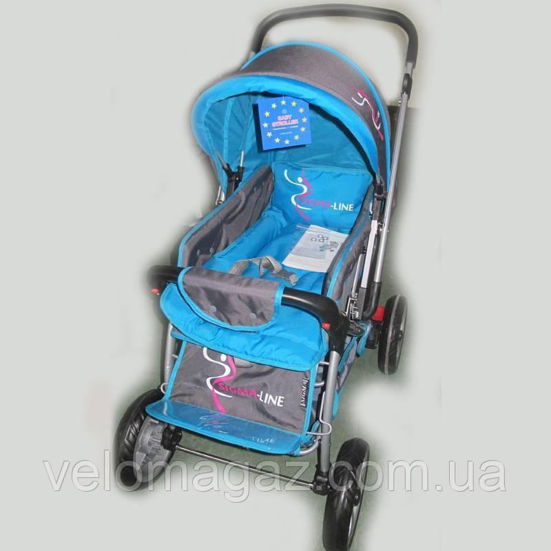 Прогулянкова дитяча коляска Sigma H-538EF синя