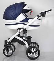 """Всесезонна дитяча коляска 2 в 1 """"MACAN"""" White-Blue"""
