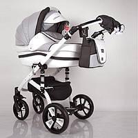 Всесезонна дитяча коляска 2 в 1 MACAN White / Grey