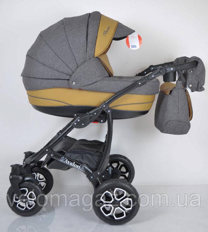 """Всесезонная детская коляска 2 в 1 """"AVALON BUENO"""" Grey-brown"""