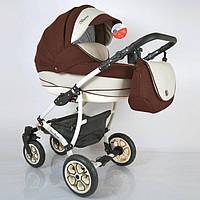 "Всесезонна дитяча коляска 2 в 1 ""AVALON BUENO"" Brown-white"