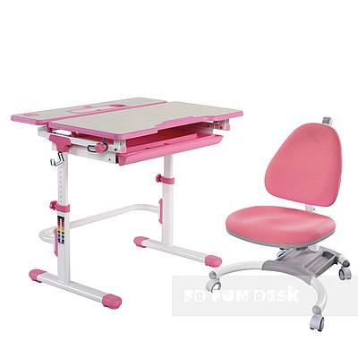 Комплект растущая парта Lavoro L Pink + детское кресло для школьника SST4 Pink FunDesk