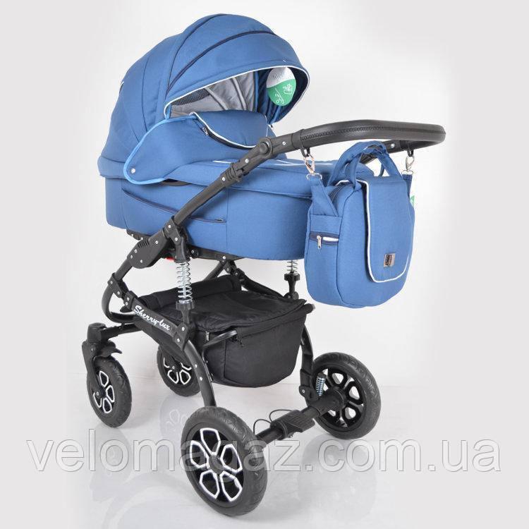 """Универсальная детская коляска 2 в 1 """"Sherry Lux"""" Blue"""