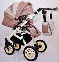 """Универсальная всесезонная детская коляска 2 в 1 """"YORK"""" бежевая, фото 1"""