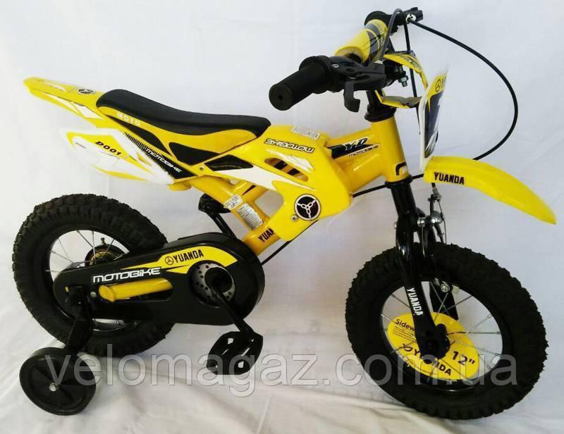 """Велосипед детский Sigma YUANDA YD-02 12"""" Yellow"""
