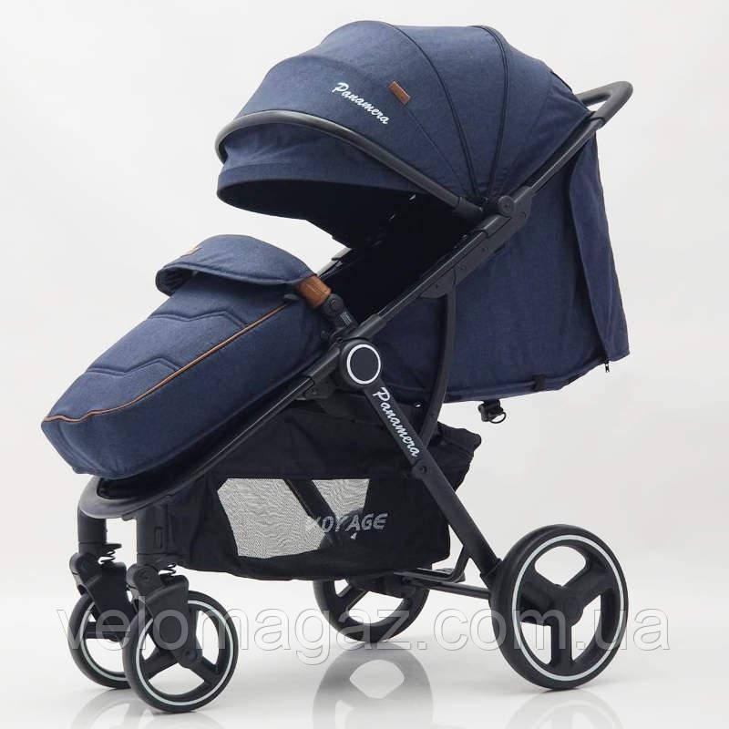 Дитяча прогулянкова коляска Panamera C689 Blue (Black) Синя