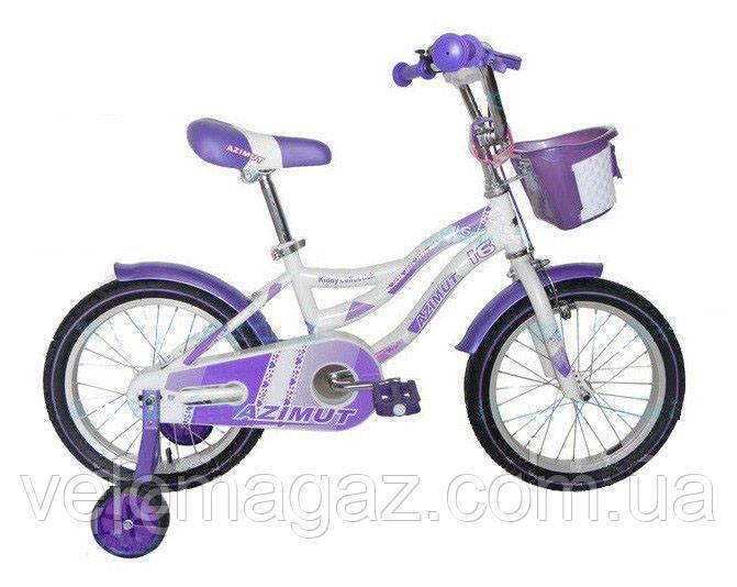 """Дитячий двоколісний велосипед AZIMUT KIDDY 16"""""""