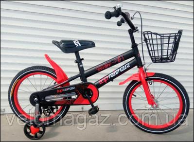 """Велосипед TopRider-01 16"""" червоний дитячий двоколісний"""