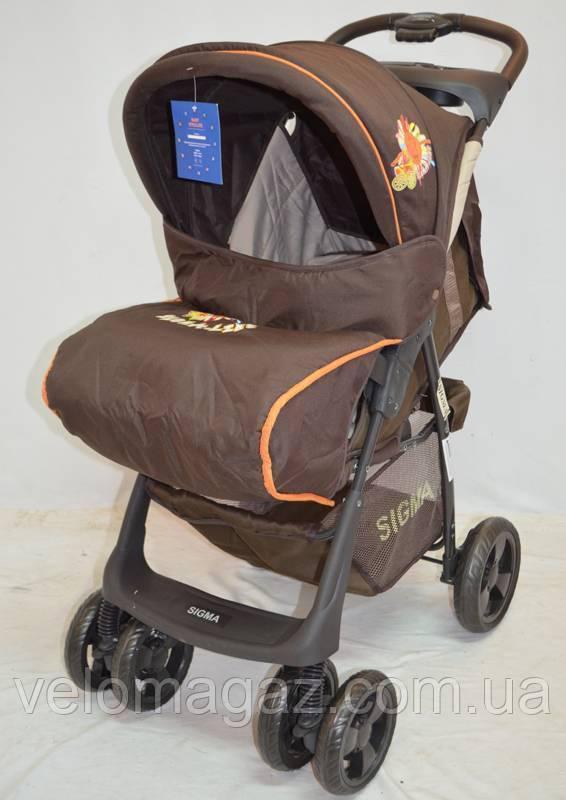 Детская коляска Sigma S-K-6F Brown прогулочная