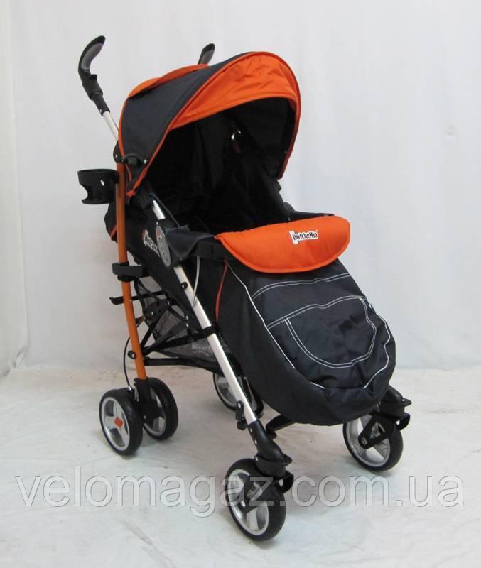 "Прогулочная детская коляска ""DolcheMio""-SH638APB Black-orange"