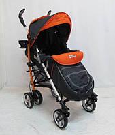"Прогулянкова дитяча коляска ""DolcheMio""-SH638APB Black-orange"