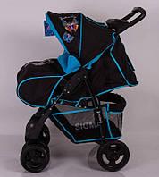Дитяча коляска Sigma S-K-6F Black-blue прогулянкова, фото 1