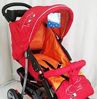Дитяча коляска Sigma K-038F-2 прогулянкова з москітною сіткою червона