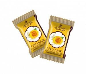 Грильяж подсолнечный в шоколаде 1,4 кг. ТМ Золотой Век