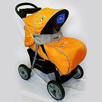 Детская коляска Sigma K-038F-2 прогулочная с москитной сеткой желтая, фото 1