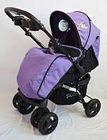 Детская прогулочная коляска Sigma K-719F с москитной сеткой фиолетовая