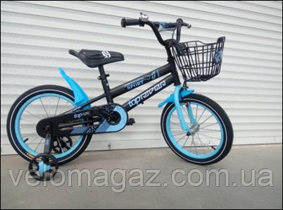 """Велосипед TopRider-01 12"""" синій дитячий двоколісний"""